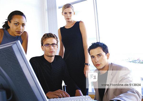 Geschäftsleute im Büro  Portrait