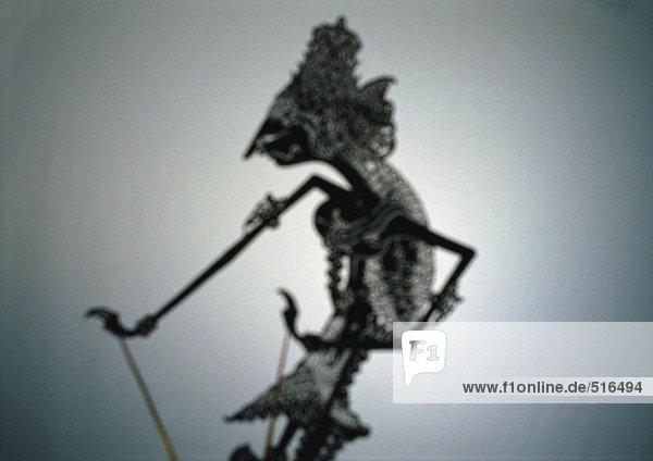 Traditionelle indonesische Schattenpuppe
