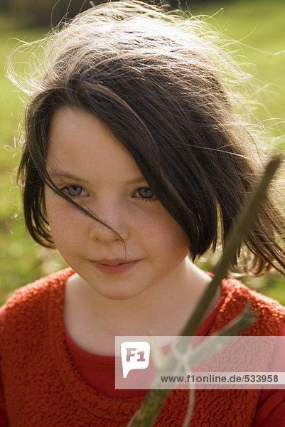 Mädchen (7-9) Haltestange  Portrait