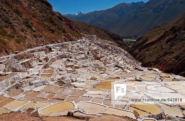 Salzbergwerk im Tal  Urubamba Tal  Peru