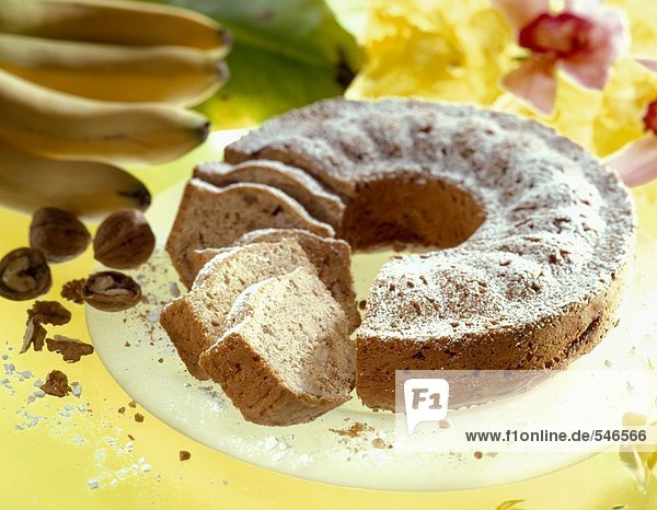 Bananen Nuss Kuchen 941532 Foodcollection Lizenzfreies Bild