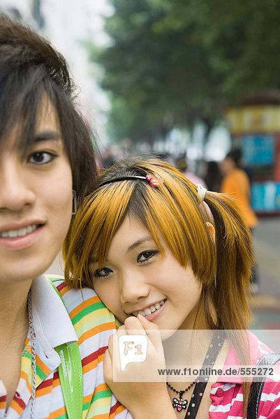 Teenager-Paar  Porträt