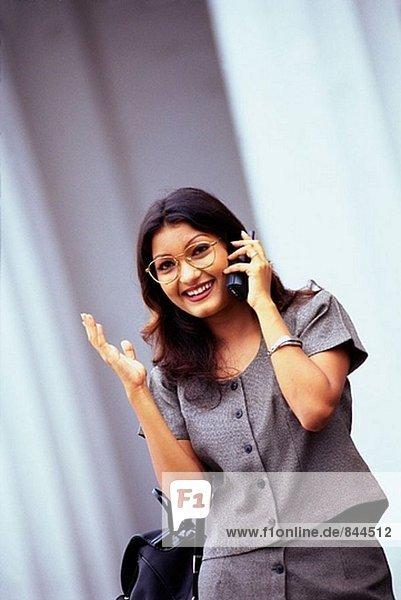 Executive woman on mobile phone