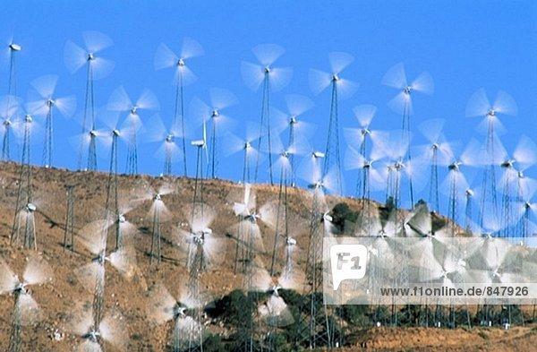 Windturbine Windrad Windräder Bewegung
