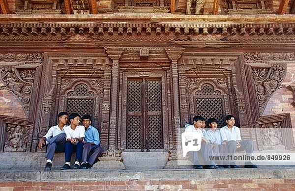 Quadrat Quadrate quadratisch quadratisches quadratischer Bhaktapur Nepal