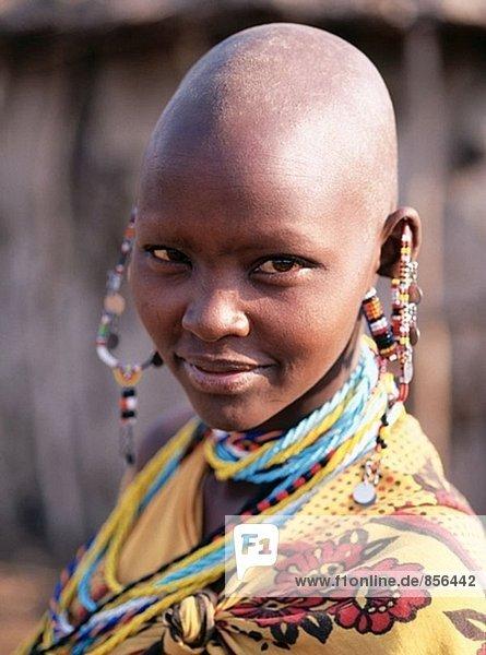 Masai Frau. Masai Mara. Kenia
