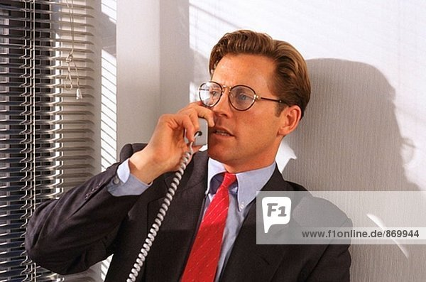 Executive on the phone