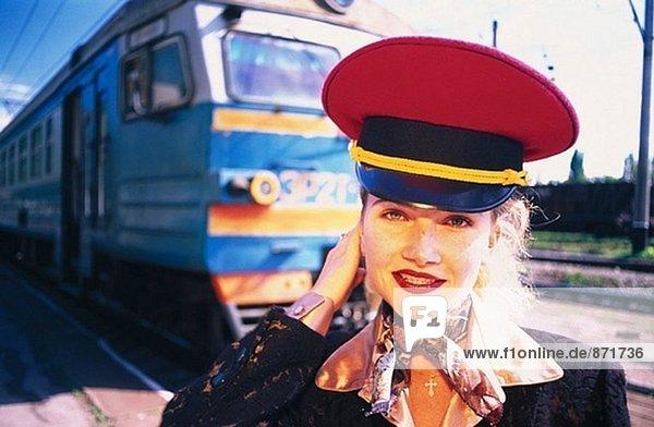 Frau tragen cap