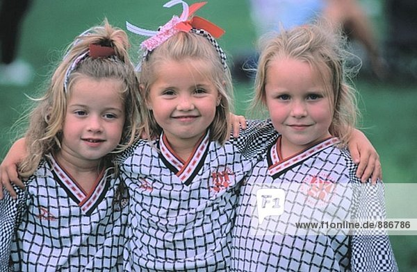 Girls Soccer Teamkollegen