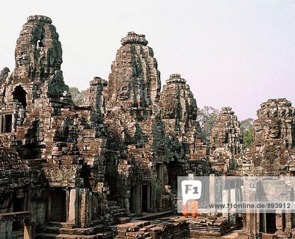 Temple of Bayon  complex of Angkor Thom. Angkor. Cambodia