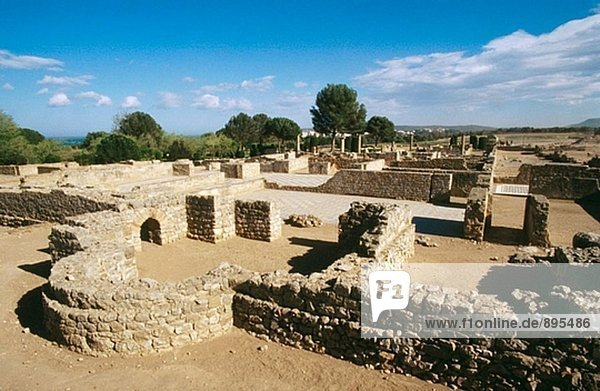 Ruins of the old Greek and Roman city. Ampurias. Girona province. Spain