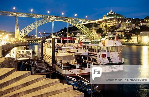 Dom Luis I Bridge on the Douro River. Porto. Portugal