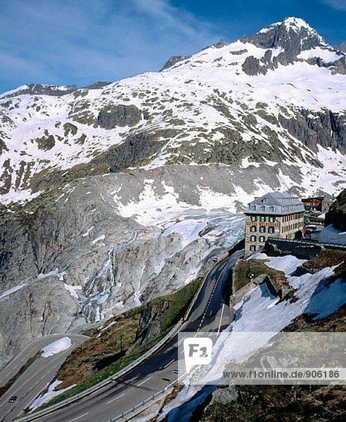 Rhone-Gletscher  Hotel Belvedere  Alpen  Schweiz