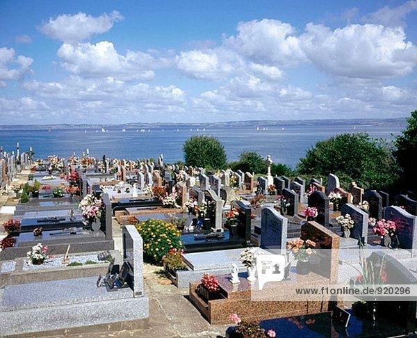 Friedhof. Douarnenez. Bretagne. Frankreich