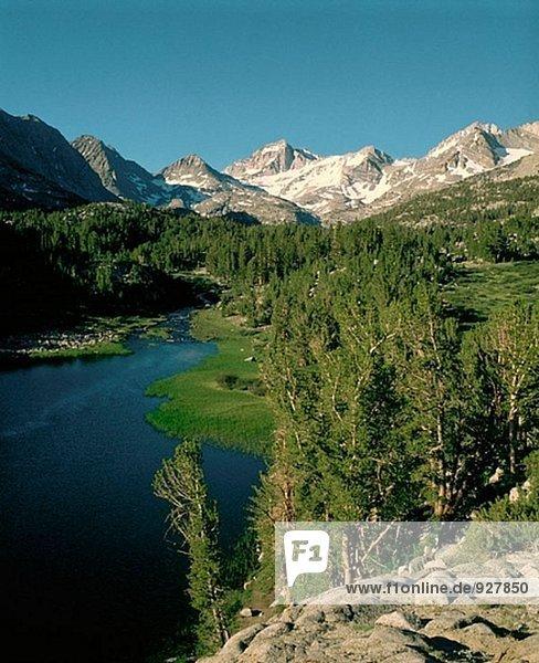 Heart Lake und Bear Creek Spire  morgen Juli  John Muir Wilderness  Inyo County  Kalifornien  USA.