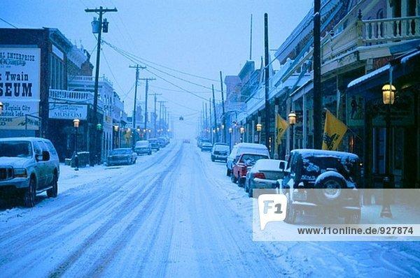 Virginia City in der Dämmerung. Nevada. USA