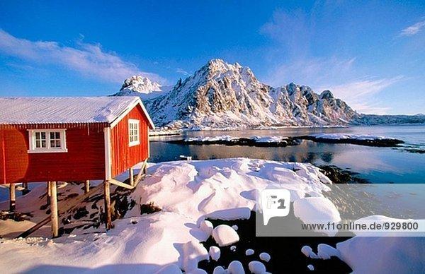 Svolvaer in Lofoten Islands. Norway