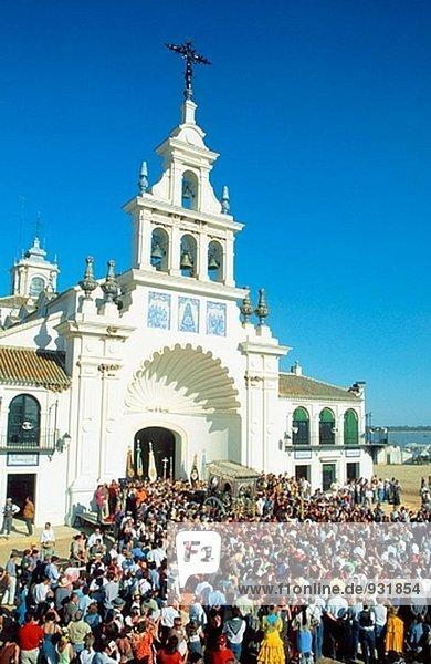 Kirche von El Rocío. Huelva Provinz. Andalusien. Spanien