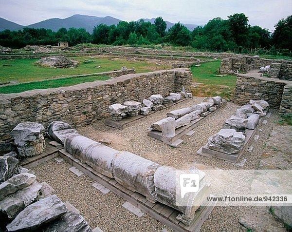 Roman ruins. Sarmizegetusa. Transylvania. Romania
