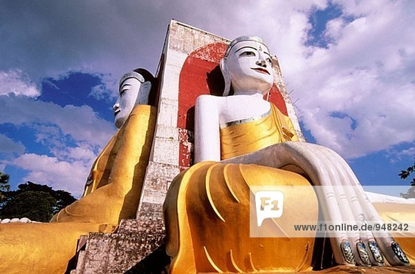 Kyaikpun-Tempel in Bago. Myanmar
