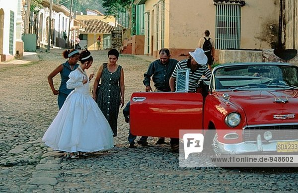Braut in Trinidad. Kuba