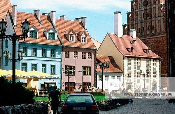 Straße Riga Hauptstadt Lettland