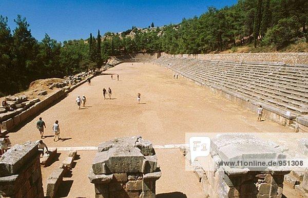 Stadium in the Sanctuary of Apollo. Delphi. Greece