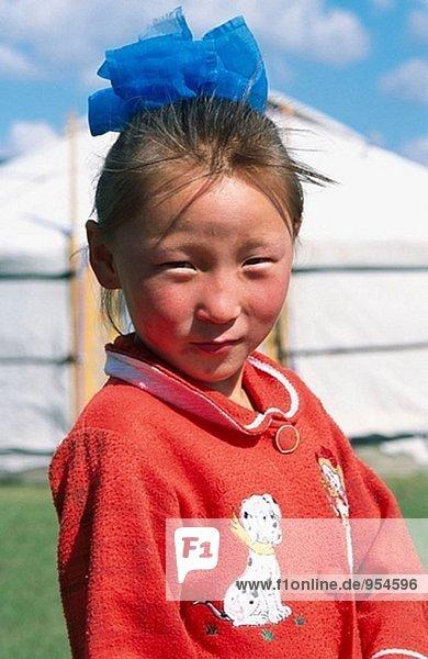 Mädchen aus Orchon Tal. Ovorkhangai Provinz  Mongolei