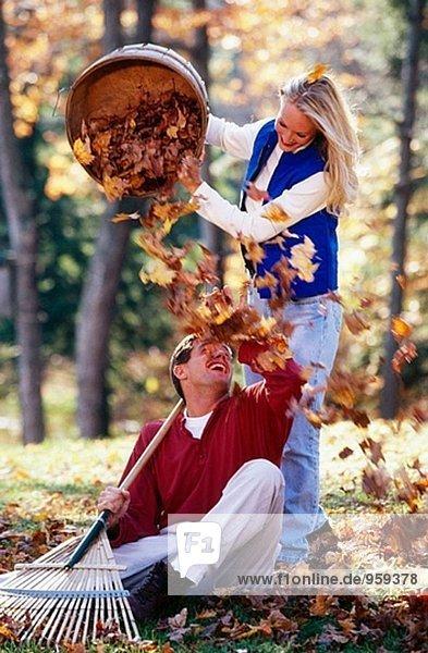 Spielen in einem Stapel leaf