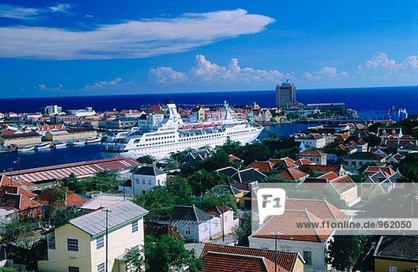Willemstad Blick von Otrobanda in Richtung Punda. Karibik