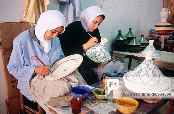 Pottery artisans at the potters´ quarter. Safi. Atlantic coast. Morocco