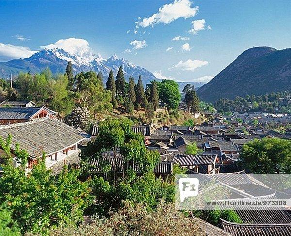 Berg China Drache Lijiang Schnee