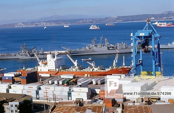Hafen Valparaíso. Chile.
