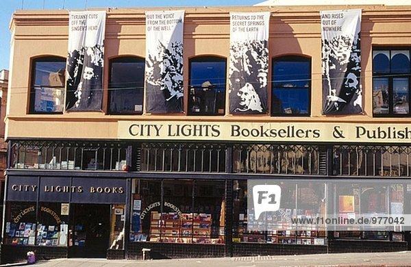 Vereinigte Staaten von Amerika USA Großstadt Beleuchtung Licht Buchhandlung Kalifornien