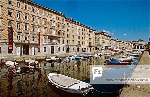 Grand Canal  Trieste. Friuli-Venezia Giulia  Italy