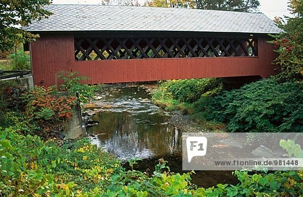 Covered bridge. New England  USA
