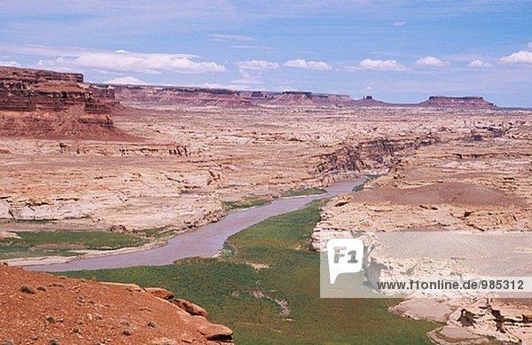 Colorado River in der Nähe von Hite Kreuzung. Glen Canyon National Recreation Area. Utah. USA.
