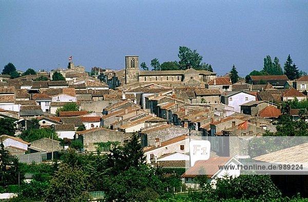 Sauveterre-de-Guyenne Bastide. Gironde. Aquitaine. Frankreich.