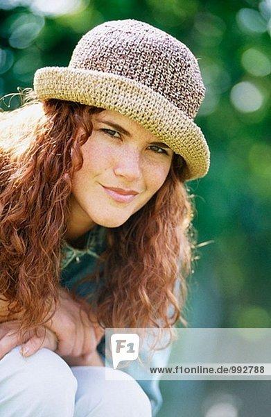 Mädchen in einen Hut