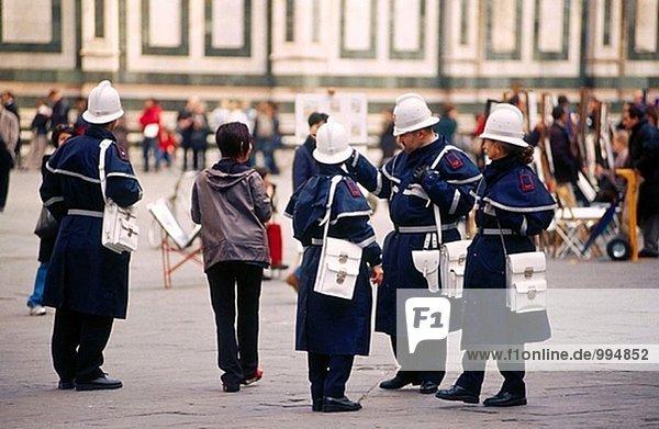 Stadtpolizei. Florenz. Italien.