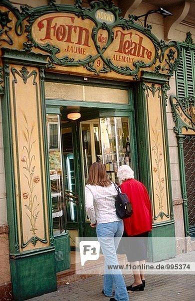 ´Forn des Teatre´ berühmte Bäckerei. Palma De Mallorca. Mallorca  Balearen. Spanien