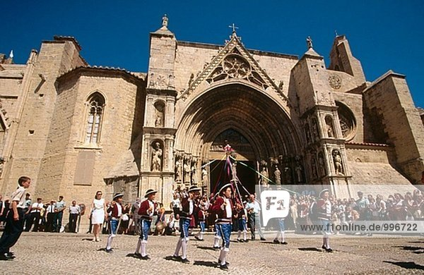 ´El Sexeni´ traditionelle Festival  Morella. Provinz Castellón  Comunidad Valenciana  Spanien