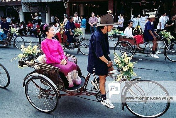 Blumenfestival  Menschen. Chiang Mai. Thailand.