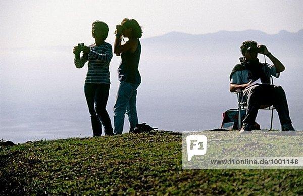 Yebel Musa und Isla de Las Palomas. Straße von Gibraltar.