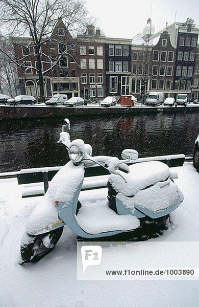 Prinsengracht im Winter  Amsterdam. Holland