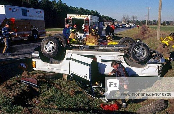 Autounfällen  Delaware  USA.