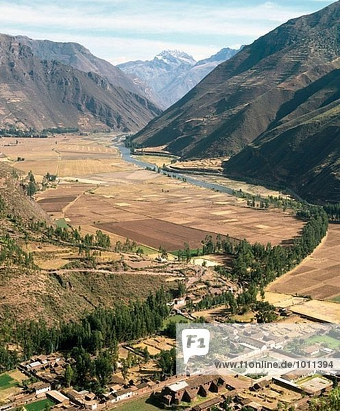 Tal Fluss Heiligkeit Urubamba Cuzco Cusco Peru