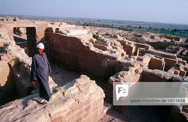 Ruins of village  Al Fayyum. Lybian desert  Egypt