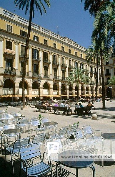 Plaça Reial  Barcelona. Katalonien  Spanien