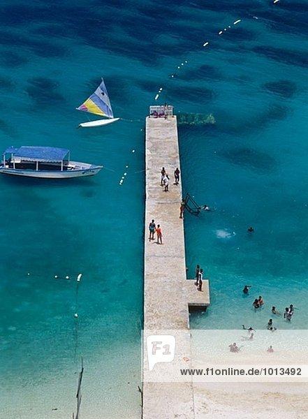 White Sands Beach  Montego Bay. Jamaika